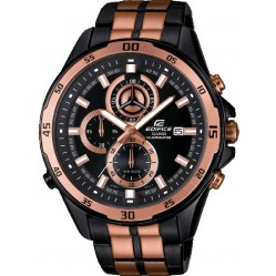 Casio Mens Edifice Rose Gold Plated Chronograph Watch EFR-547BKG-1AVUEF