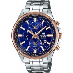 Casio Mens Edifice Two Tone World Time Watch EFR-304PG-2AVUEF
