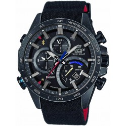 Casio Edifice Black Limited Edition Scuderia Torro Rosso Fabric Strap Smartwatch EQB-501TRC-1AER