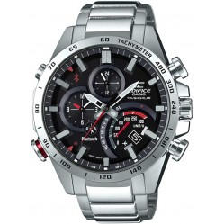 Casio Mens Edifice Connect Red Bracelet Smartwatch EQB-501XD-1AER