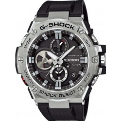 Casio Mens G-Shock G-Steel Connect Chronograph Black Rubber Strap Watch GST-B100-1AER