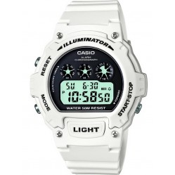 Casio CASIO Collection Digital White Plastic Strap Watch W-214HC-7AVEF
