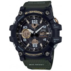 Casio G-Shock Master Of G Land Mudmaster Solar Dual Display Green Plastic Strap Watch GWG-100-1A3ER