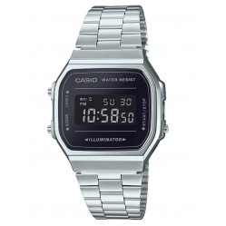 Casio CASIO Collection Retro Digital Steel Bracelet Watch A168WEM-1EF