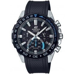 Casio Edifice Premium Solar Chronograph Black Rubber Strap Watch EFS-S550PB-1AVUEF
