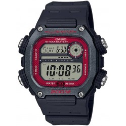 Casio CASIO Collection Digital Red Plastic Strap Watch DW-291H-1BVEF