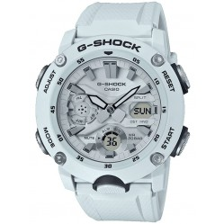 Casio G-Shock Sports Dual Display Chronograph White Plastic Strap Watch GA-2000S-7AER