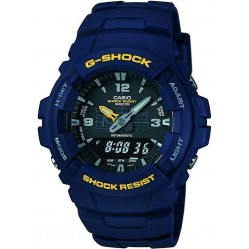 Casio G-Shock Classic Dual Display Blue Plastic Strap Watch G-100-2BVMUR