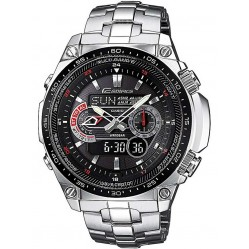 Casio Edifice Classic Dual Display Black Bracelet Watch ECW-M300EDB-1AE