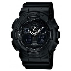 Casio Mens G-Shock Black Strap Watch GA-100-1A1ER