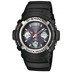 Casio Mens G-Shock Classic Black Strap Duo Blue Watch AWG-M100-1AER