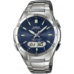 Casio CASIO Collection Wave Ceptor Solar Dual Display Blue Bracelet Watch WVA-M640D-2AER