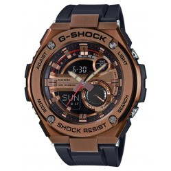 Casio G-Shock G-Steel Dual Display Rose Tone Plastic Strap Watch GST-210B-4AER