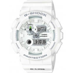 Casio G-Shock Classic Dual Display White Plastic Strap Watch GAX-100A-7AER