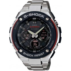 Casio Mens G-Shock G-Steel Black Aviator Bracelet Watch GST-W100D-1A4ER