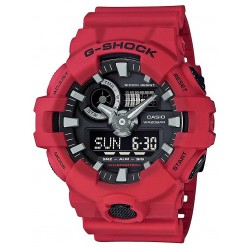 Casio G-Shock Mens Red Strap Watch GA-700-4AER