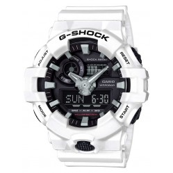 Casio G-Shock Mens White Strap Watch GA-700-7AER