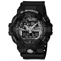 Casio G-Shock Classic Dual Display Black Plastic Strap Watch GA-710-1AER