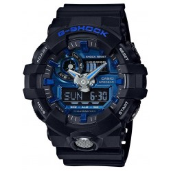 Casio G-Shock Classic Dual Display Blue Plastic Strap Watch GA-710-1A2ER