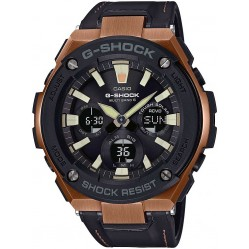 Casio G-Shock Mens Brown Leather Strap Watch GST-W120L-1AER