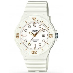 Casio Mens White Resin Strap Watch LRW-200H-7E2VEF