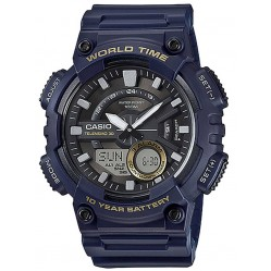 Casio Dual Display Rubber Strap Watch AEQ-110W-2AVEF