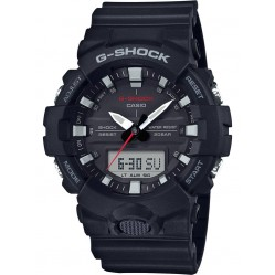Casio G-Shock Classic Dual Display Black Plastic Strap Watch GA-800-1AER