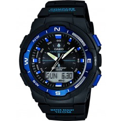 Casio Mens Dual Display Rubber Watch SGW-500H-2BVER