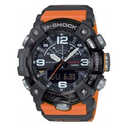 Casio G-Shock Master Of G Mudmaster Carbon Core Guard Dual Display Orange Plastic Strap Smartwatch GG-B100-1A9ER