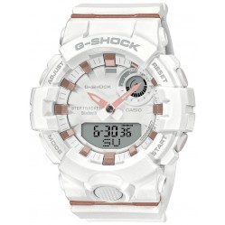 Casio G-Shock Midsize Bluetooth Dual Display Chronograph White Strap Smartwatch GMA-B800-7AER