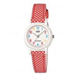 Casio Ladies Red Strap Watch LQ-139LB-4BER
