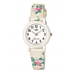 Casio Ladies Floral Strap Watch LQ-139LB-7B2ER