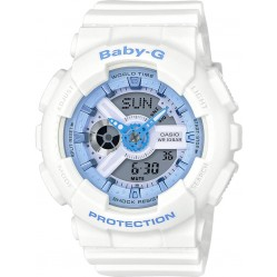 Casio Ladies Baby-G White Plastic Watch BA-110BE-7AER