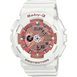 Casio Ladies Baby-G White Chronograph Watch BA-110-7A1ER