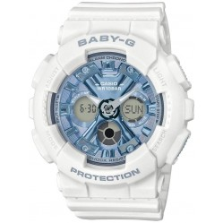 Casio G-Shock Baby-G Dual Display White Plastic Strap Watch BA-130-7A2ER