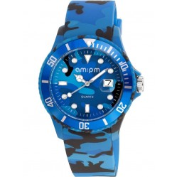 am:pm Club Kids Blue Urban Camouflage Watch PM139-G292