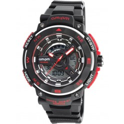 am:pm Black Red Dual Display Digital Watch PC164-G399