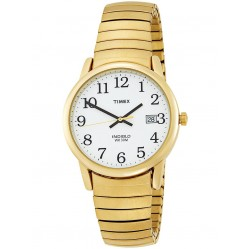 Timex Mens Gold Plated Bracelet Watch T2H301