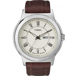 Timex Mens Traditional Indiglo Strap Watch T2E581