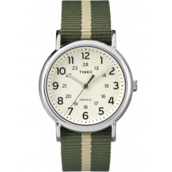 Timex Mens Weekender Stripe Green Watch TW2P72100