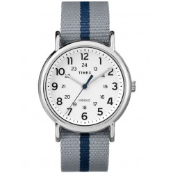 Timex Mens Weekender Stripe Grey Watch TW2P72300