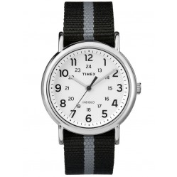 Timex Mens Weekender Stripe Black Watch TW2P72200