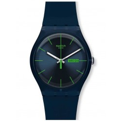 Swatch Mens Blue Rebel Watch SUON700