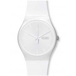 Swatch Mens White Rebel Watch SUOW701