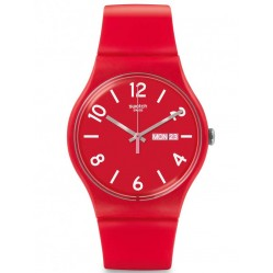 Swatch Unisex Backup Red Watch SUOR705