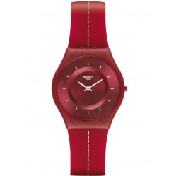 Swatch Unisex Cross The Line Strap Watch SFR104