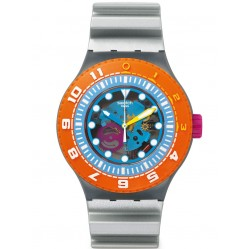 Swatch Mens Scuba-Libre Sea Through Watch SUUM101