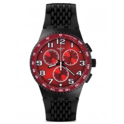 Swatch Mens Chronoplastic Testa Di Toro Strap Watch SUSB101