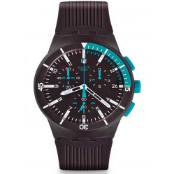 Swatch Mens Chronoplastic Purple Power Strap Watch SUSV400