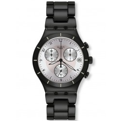 Swatch Mens Blackas Chronograph Watch YCB4026AG